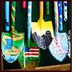 Shovels decorated by students