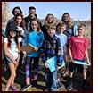 Blake students at Grays Bay Dam Park