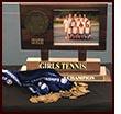 Girls' tennis team trophy